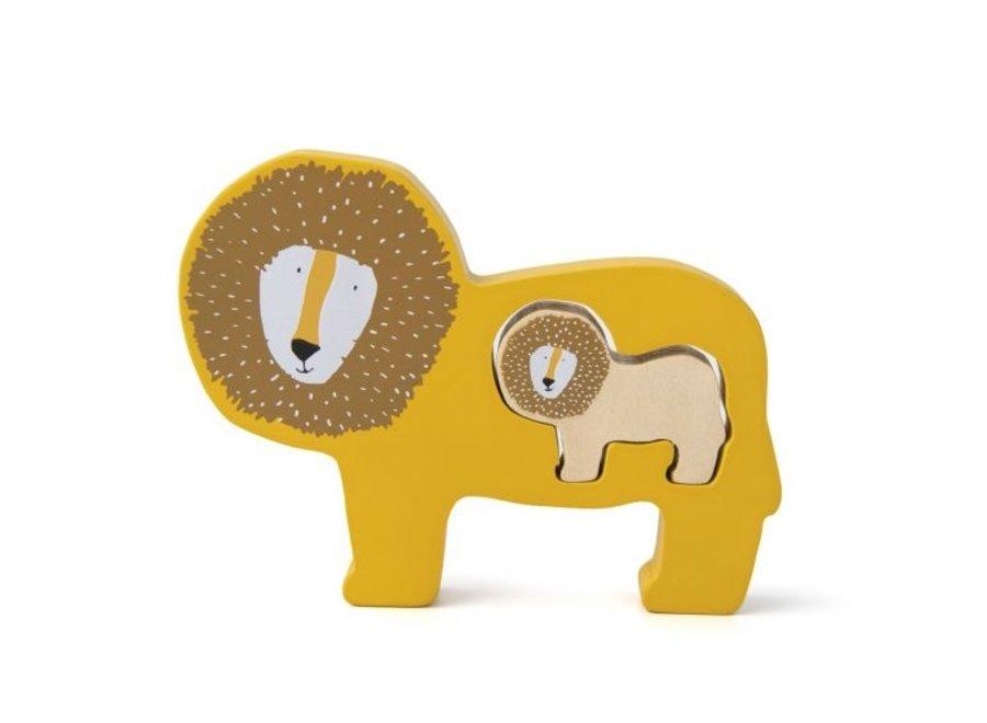 Houten babypuzzel - Mr. Lion