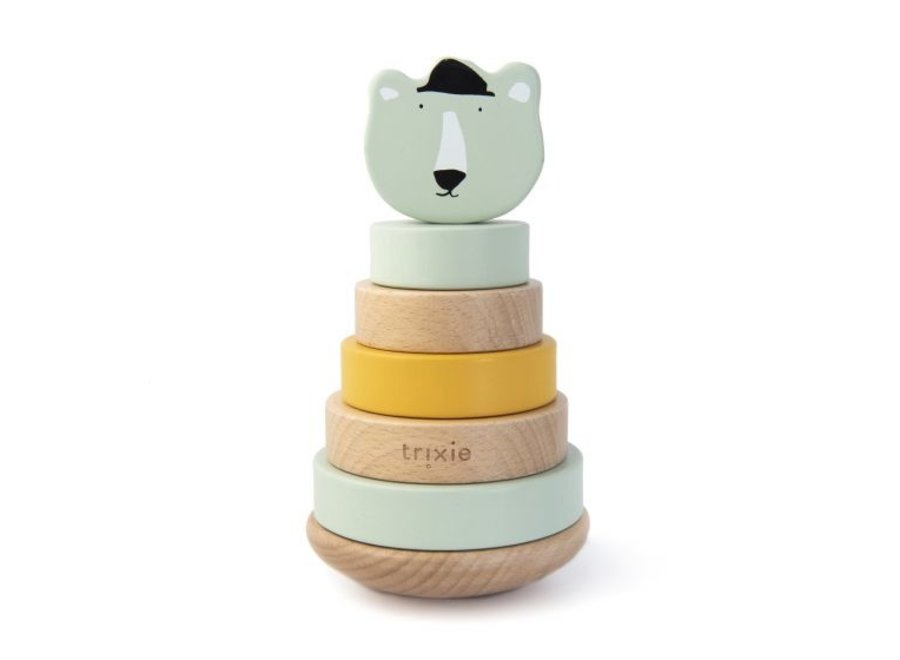 Houten stapeltoren - Mr. Polar Bear