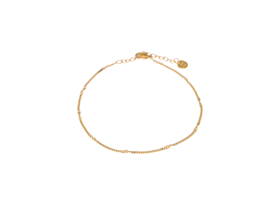 Twisted Chain Anklet Gold