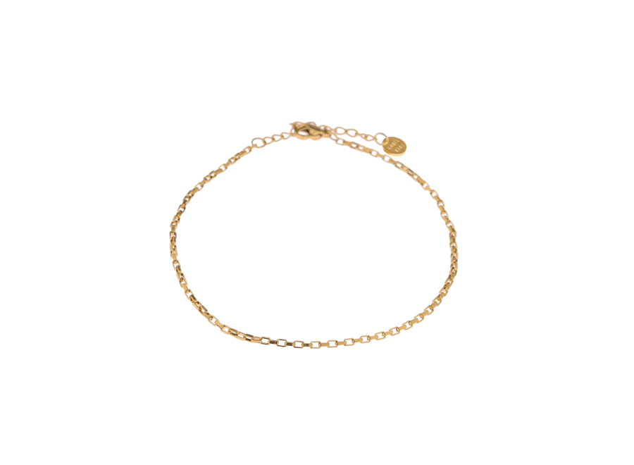 Square Chain Anklet Gold