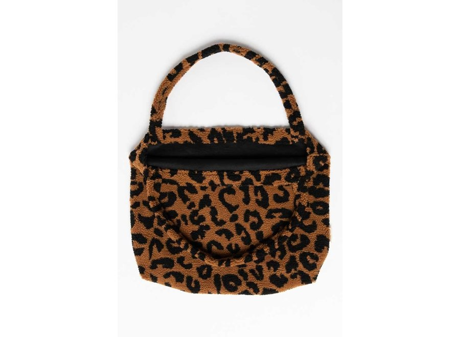 LIMITED EDITION- Teddy leopard brown mom-bag