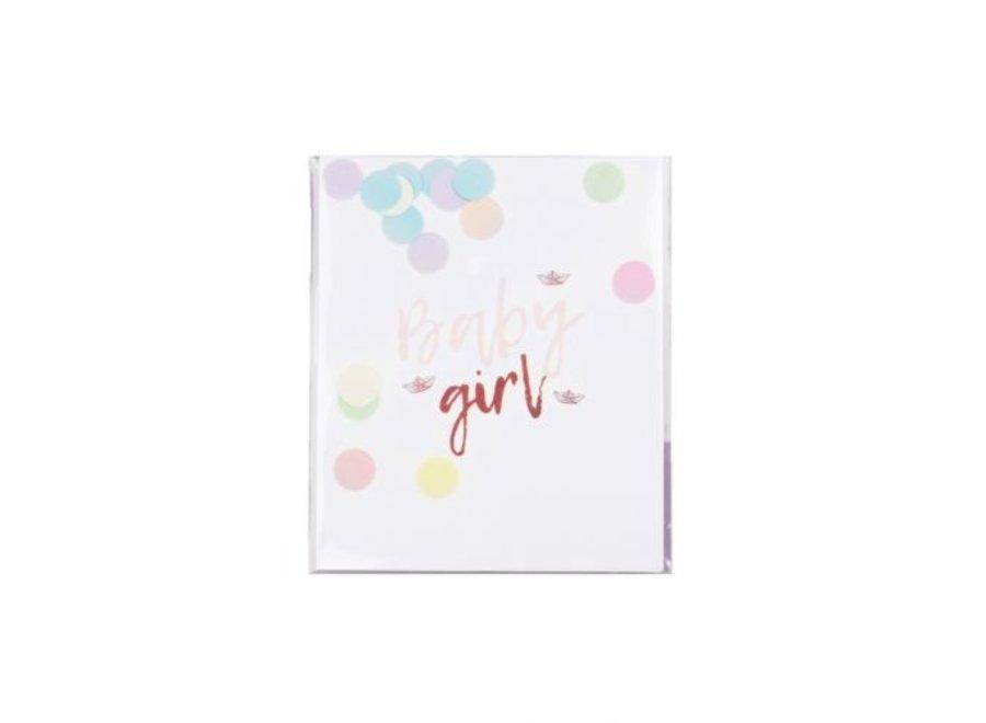 Confetti Card - Baby Girl