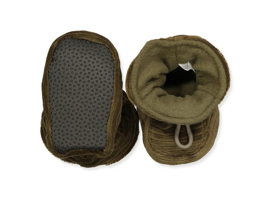 Velvet slippers - Military Olive