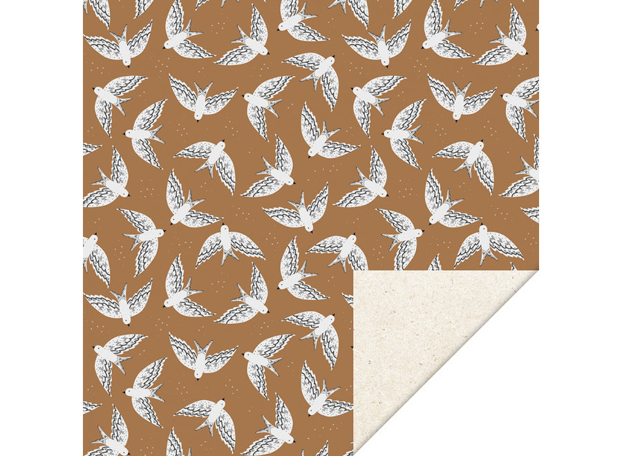 Birds Cognac (70cm x 3mtr)