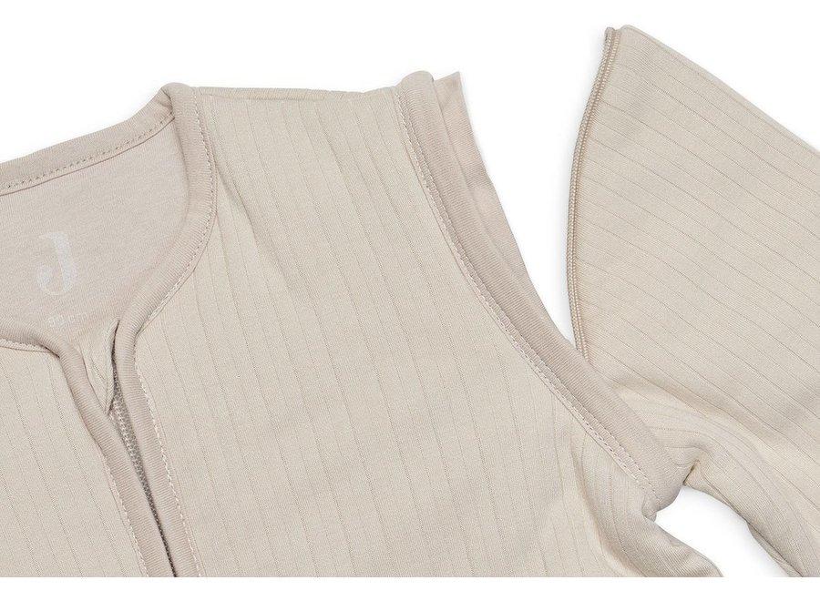 Slaapzak - Basic stripe Nougat (afristbare mouw) - 70cm