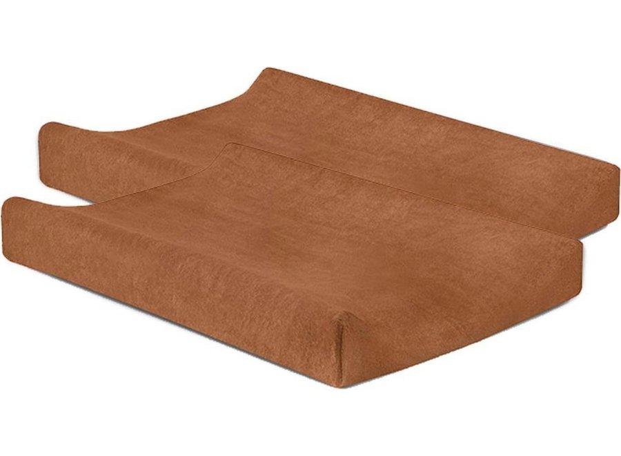 Waskussenhoes badstof 50x70 Caramel (2pack)