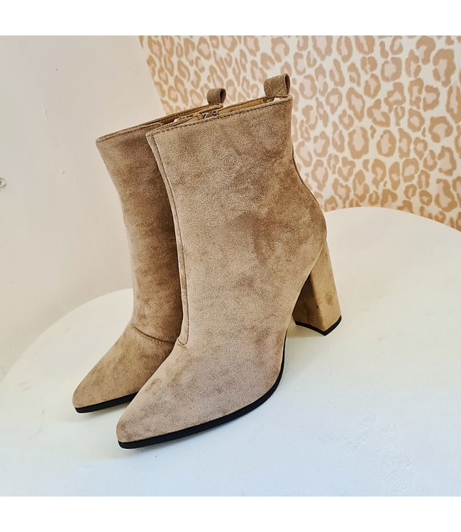 Rosa Boots Nude Suede