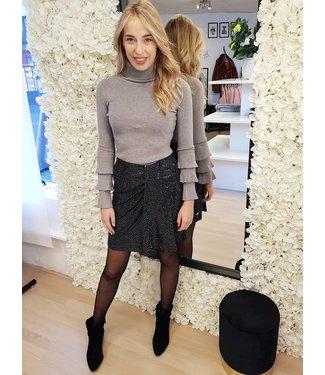 DELOUSION Skirt Shine Black