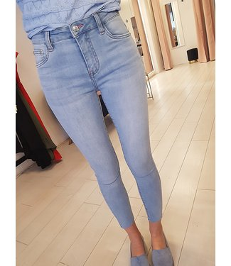 QUEEN HEARTS High waisted Jeans blue