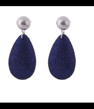 Go Dutch Label Earrings Glitter Silver/Purple
