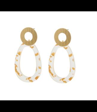 Go Dutch Label Earrings Fin Gold