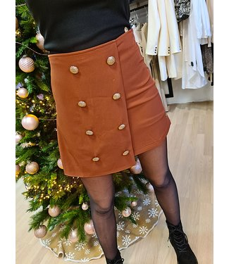 DELOUSION Skirt Isea Brown