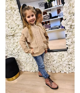 GIRLS Sweater Quinty Taupe