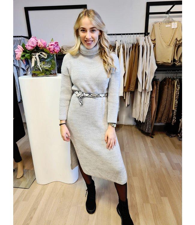 Col Dress Gigi Grey