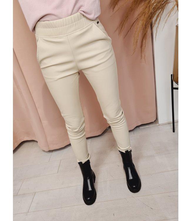 AMBIKA Leather Pants Beige