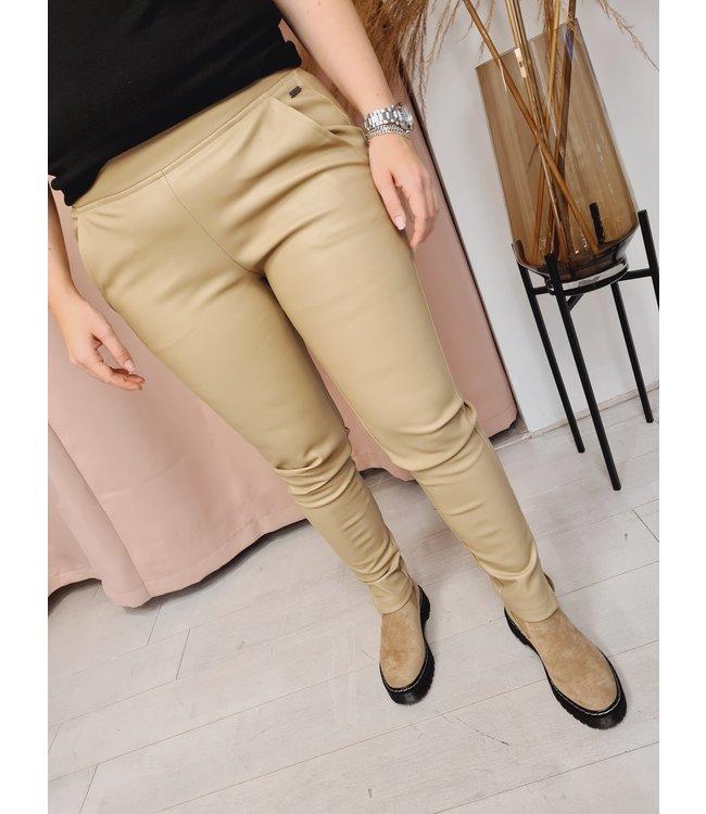 AMBIKA Leather Pants Taupe