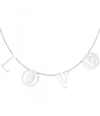 Necklace Letters Love Silver