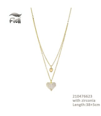 Necklace Heart Gold