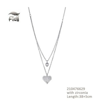 Necklace Heart Silver