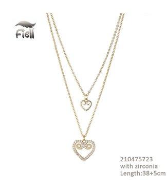 Necklace Fleur Gold