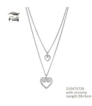 Necklace Fleur Silver
