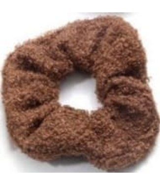 Teddy Scrunchie Brown