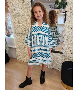 GIRLS Dress Aztec Green
