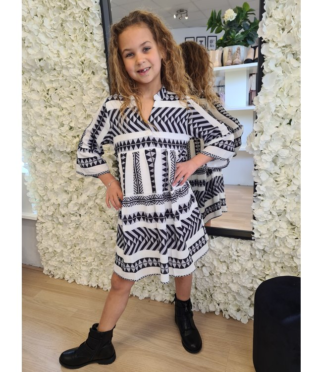 GIRLS Dress Aztec Black