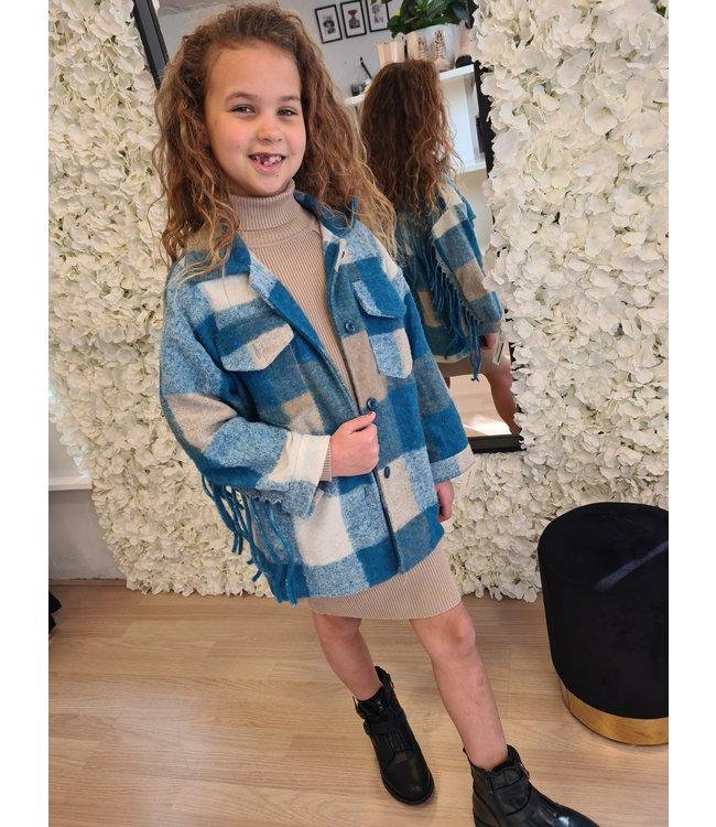 GIRLS Franje Jacket Blue