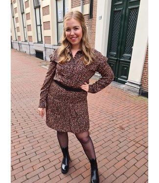 LOFTY MANNER Blouse Hazel Black-Peach