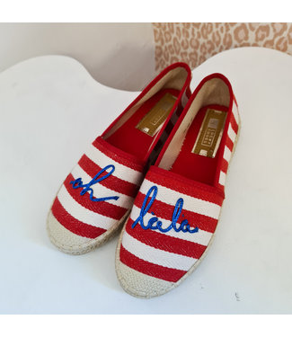 Espadrilles Oh lala Red