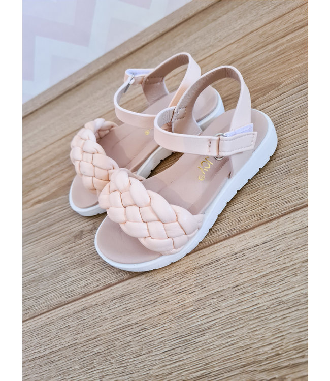 GIRLS Cable Sandals Pink