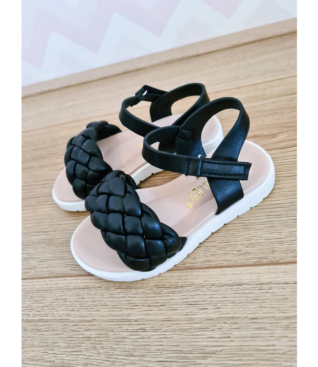 GIRLS Cable Sandals Black