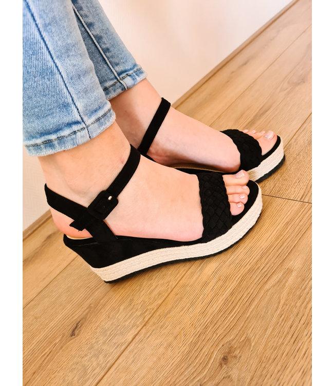 Wedge Heel Mollie Black