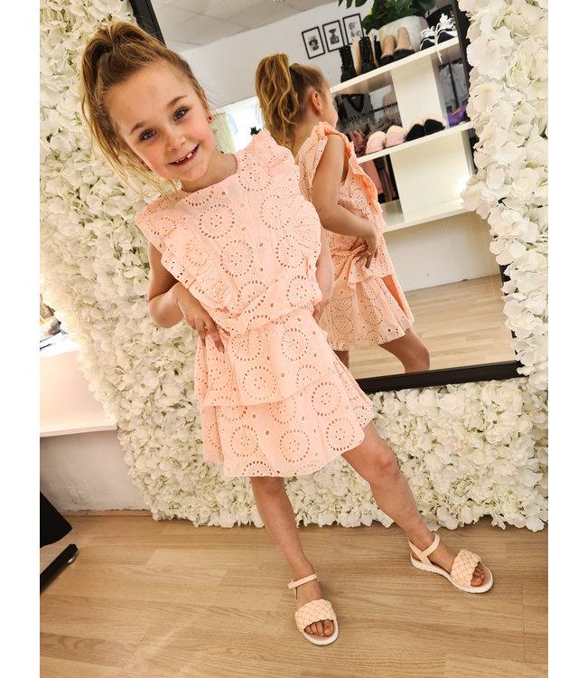 GIRLS Dress Loevia Peach