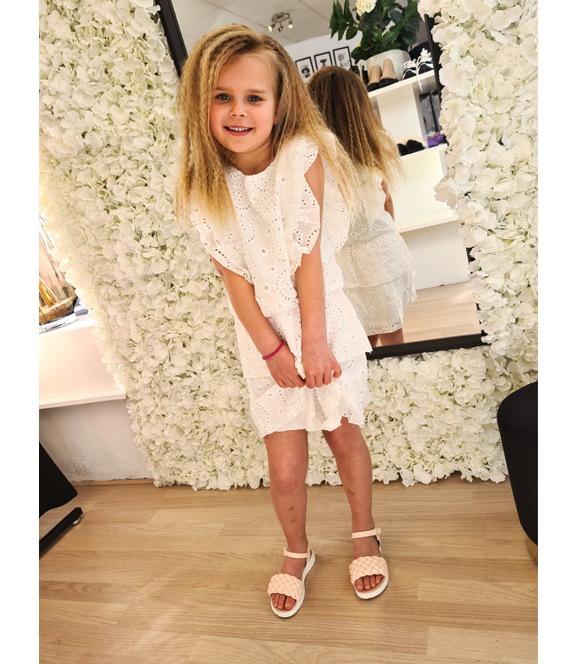 GIRLS Dress Loevia White