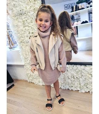 GIRLS Col Dress Camel