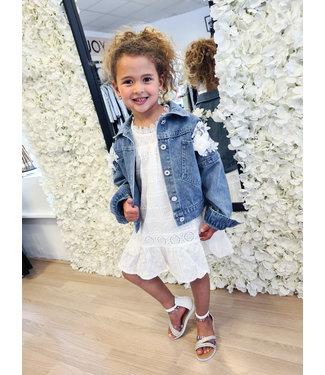 PRE-ORDER GIRLS Jacket Flower White