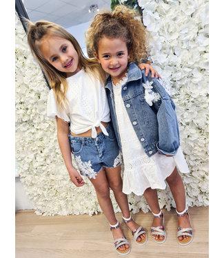 PRE-ORDER GIRLS Short Flower White