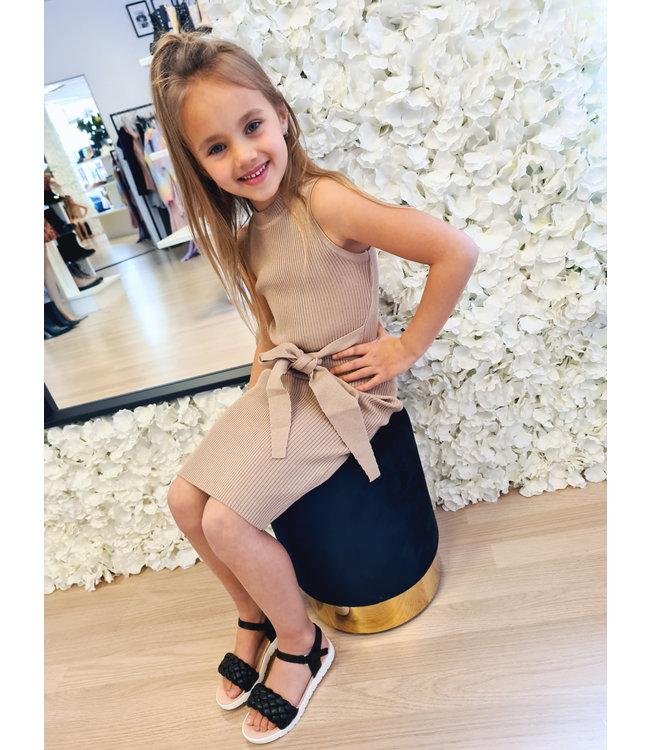 GIRLS Dress Merel Taupe