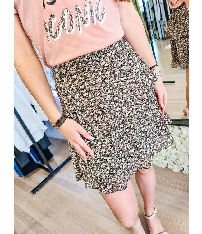 LOFTY MANNER Skirt Alita Green/Pink
