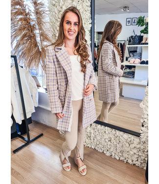 Tweed Blazer Lila