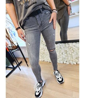 QUEEN HEARTS Skinny Jeans Jade Grey