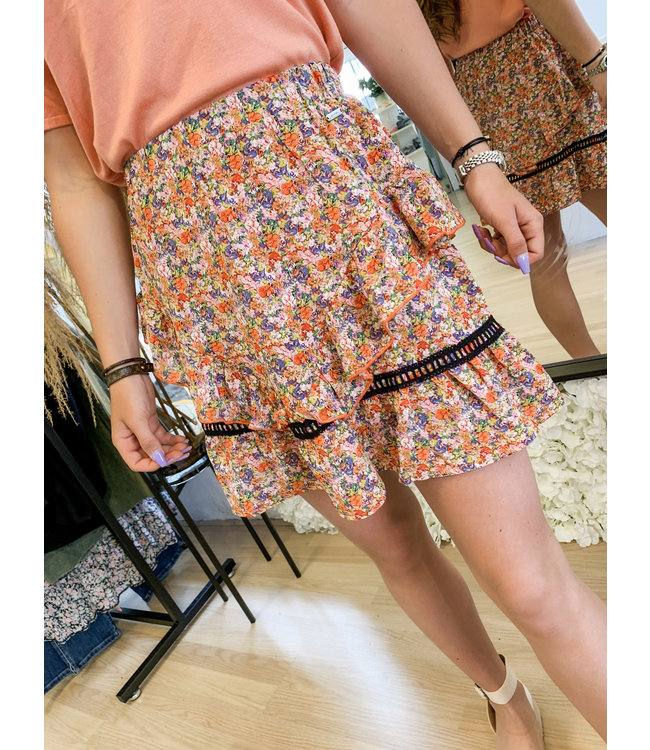 AMBIKA Skirt Nour Red Floral