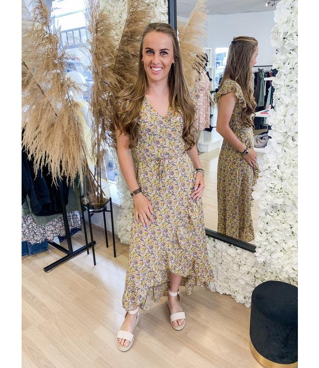 AMBIKA Dress Maryam Yellow Floral