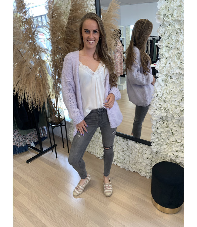 AMBIKA Knitted Vest Marley Lila