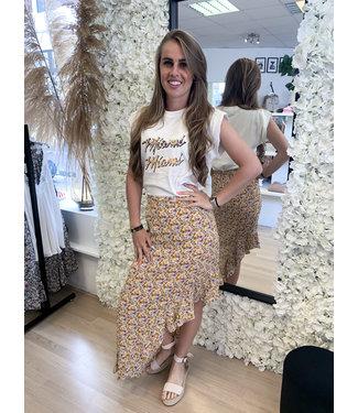 LOFTY MANNER Skirt Lieza Pink Yellow