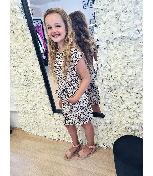 GIRLS Dress Dalmatier Beige