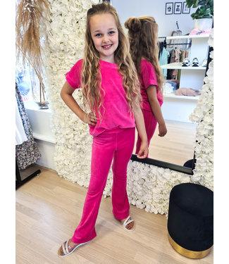 GIRLS Velvet Set Pink