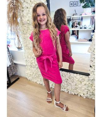 GIRLS Velvet Dress Pink